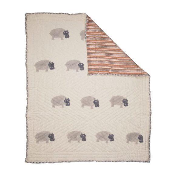 Gray Hippo Organic Quilt
