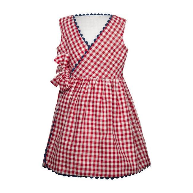 Tessa Wrap Dress, Red Gingham