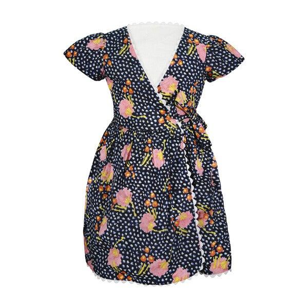 Charlotte Wrap Dress, Floral Print