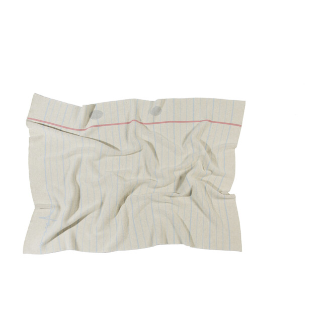 Notebook Knitted Baby Blanket, Natural