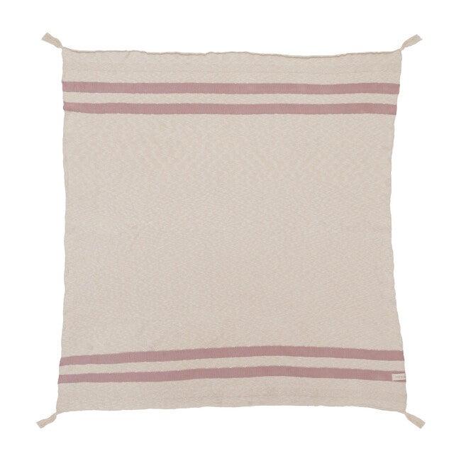 Striped Knitted Blanket, Vintage Nude