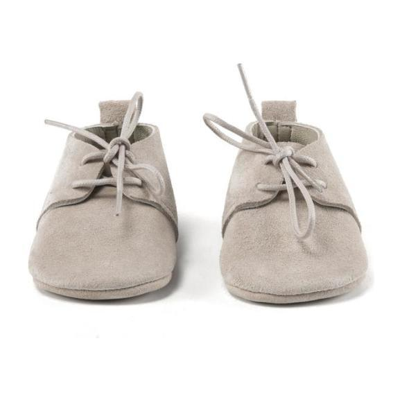 Stone Oxford Shoes, Gray