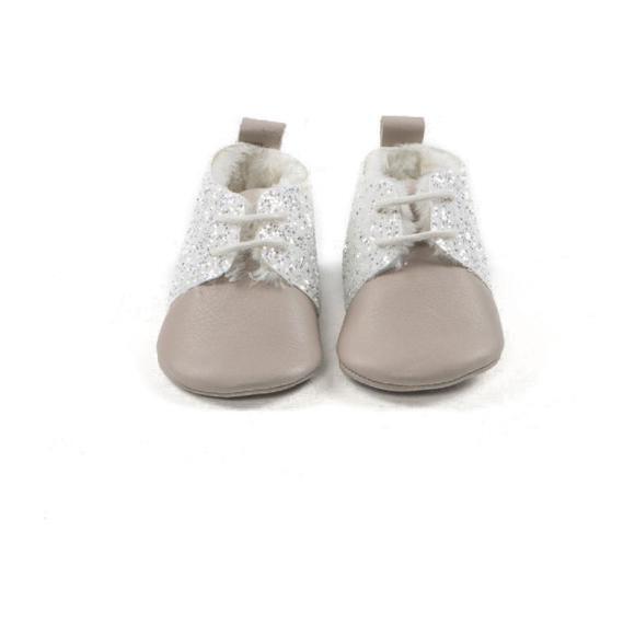 Shiny Winter Oxford Shoes, Gray