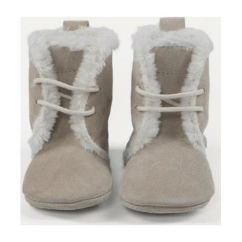 Cream Winter Booties, Taupe