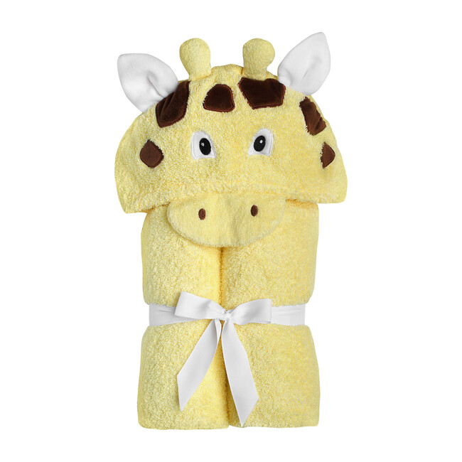 Giraffe Hooded Towel, Yellow