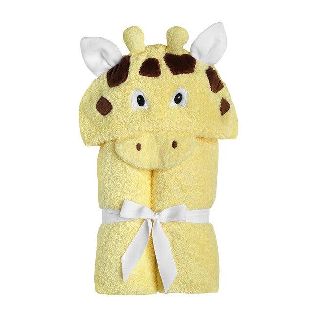 Giraffe Hooded Towel, Yellow - Towels - 1