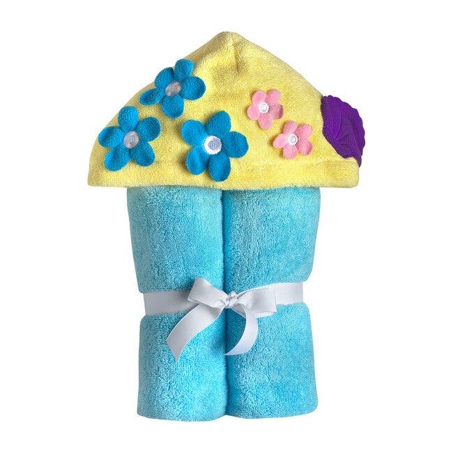 Mermaid Hooded Towel, Blue