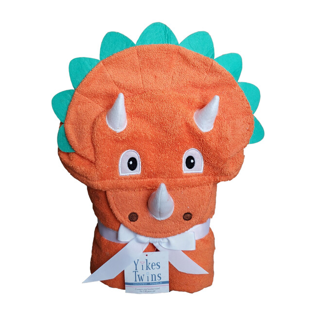 Dinosaur Hooded Towel, Orange