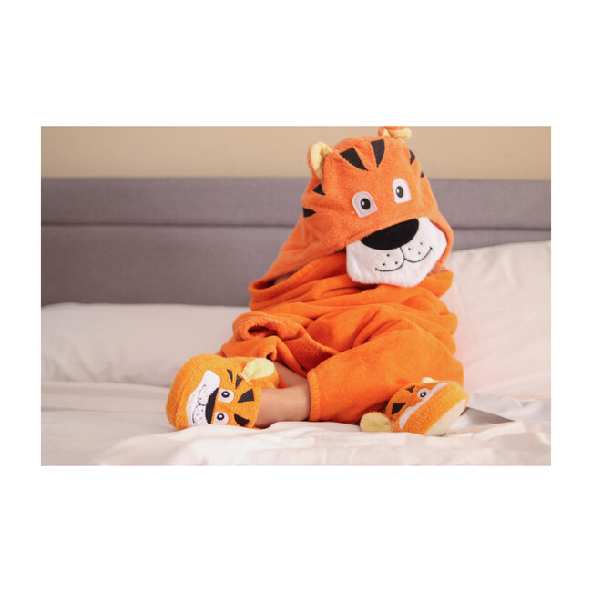 Tiger Hooded Towel, Orange