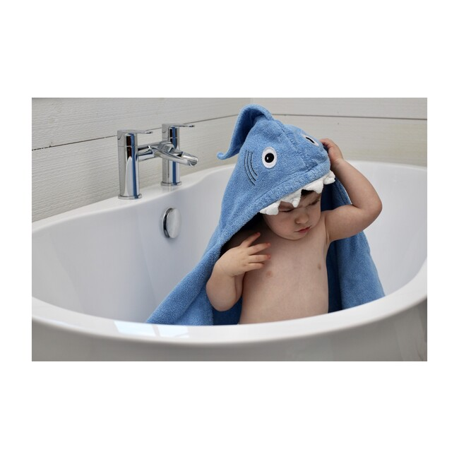 Shark Hooded Towel, Blue