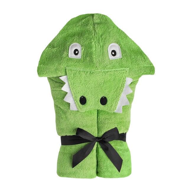 Alligator Hooded Towel, Green