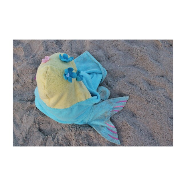 Mermaid Hooded Towel, Blue