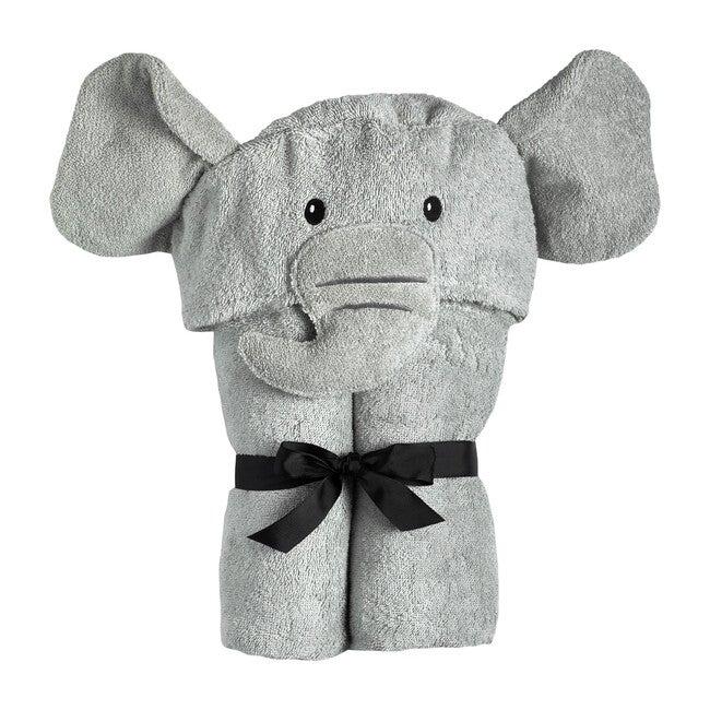 Elephant Hooded Towel, Grey
