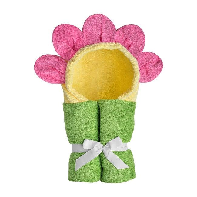 Flower Hooded Towel, Yellow