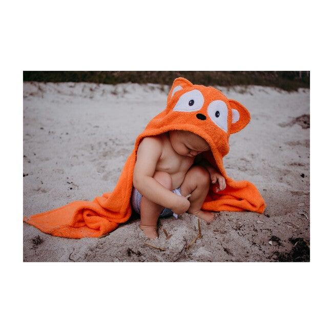 Fox Hooded Towel, Orange