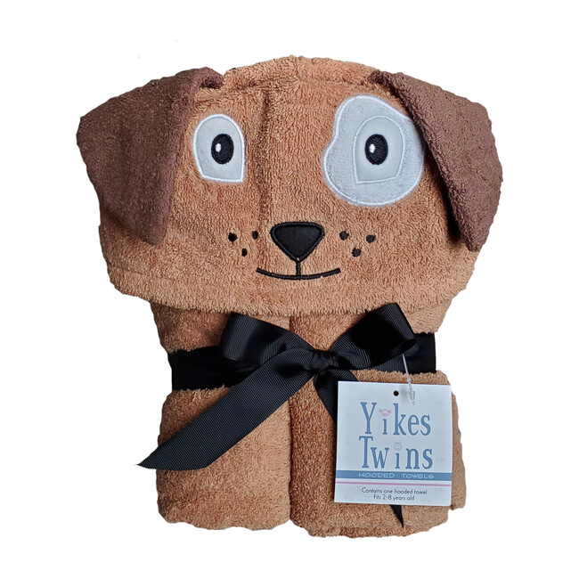 Dog Hooded Towel, Brown