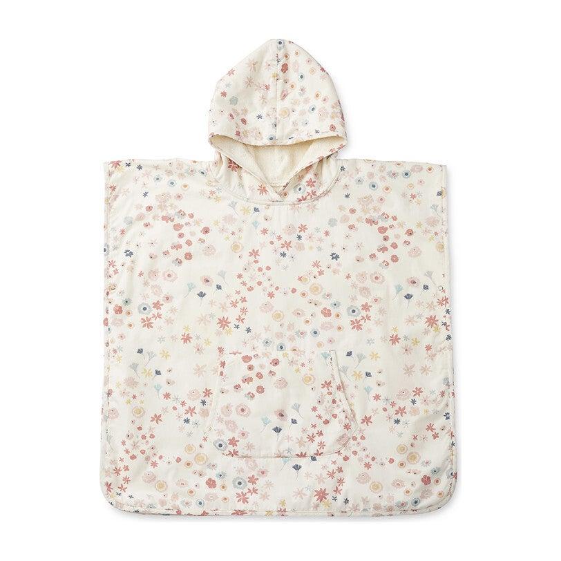 Meadow Hooded Towel Poncho, Pink