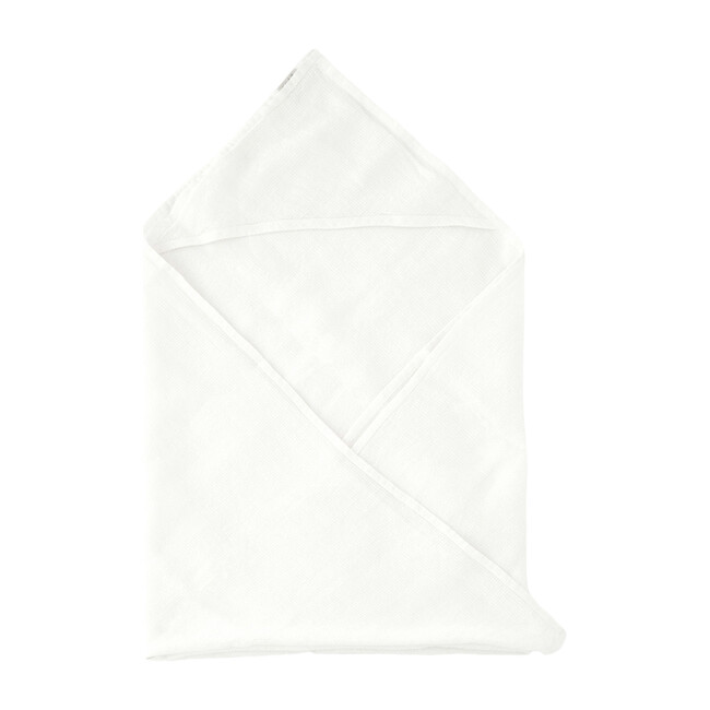 Linen Hooded Towel, White
