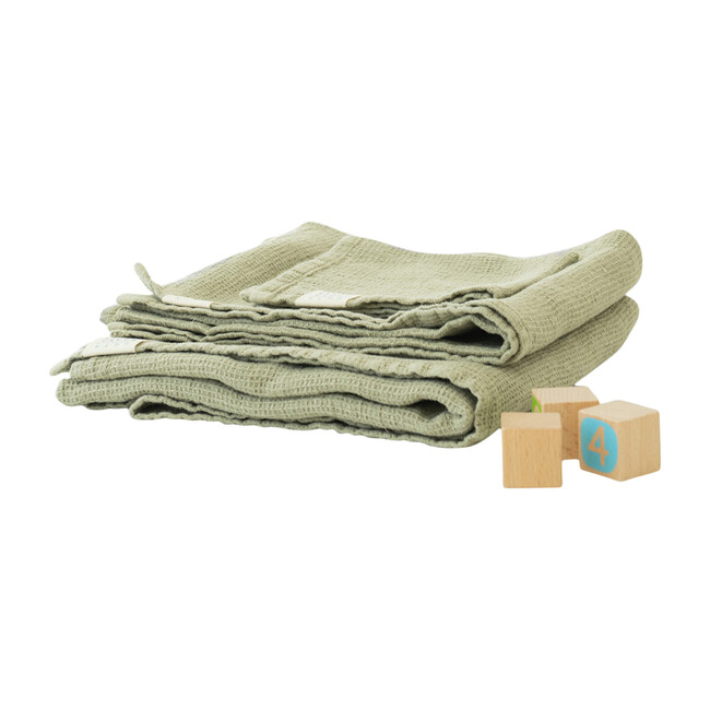 Linen Waffle Towel, Sage