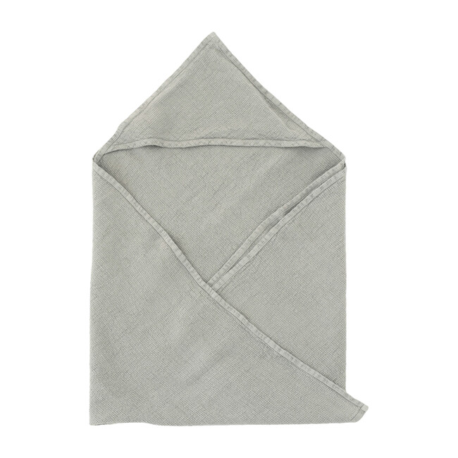 Linen Hooded Towel, Light Grey