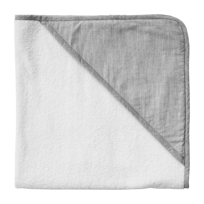 Hooded Towel, Husk Grey