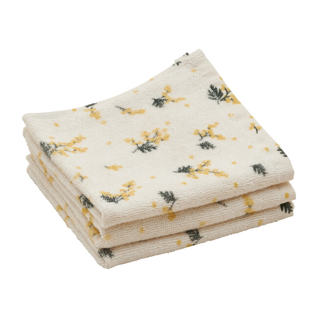 Mimosa Face Towels, Set of 3 - Towels - 1