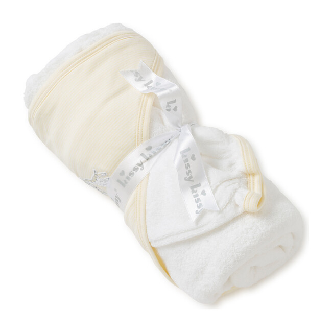 Giraffe Generations Striped Towel & Mitt Set