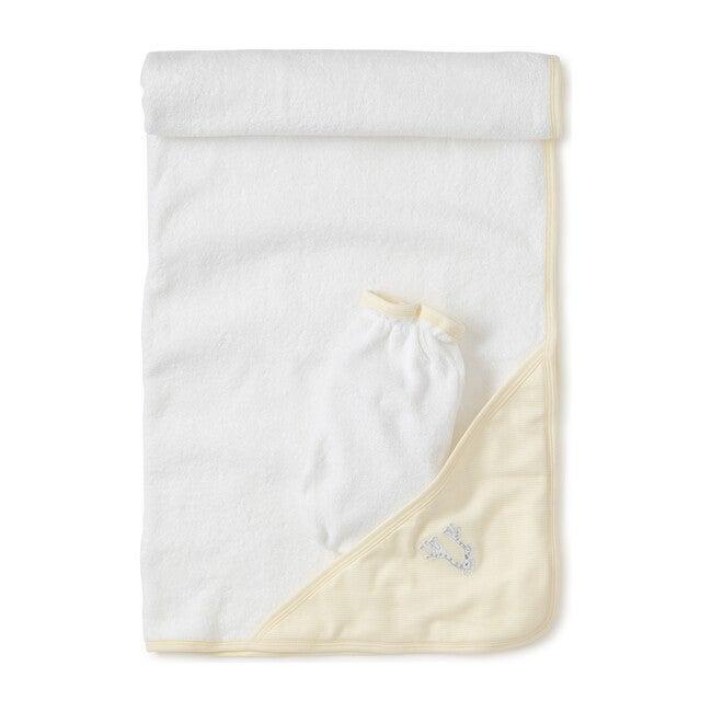 Giraffe Generations Striped Towel & Mitt Set