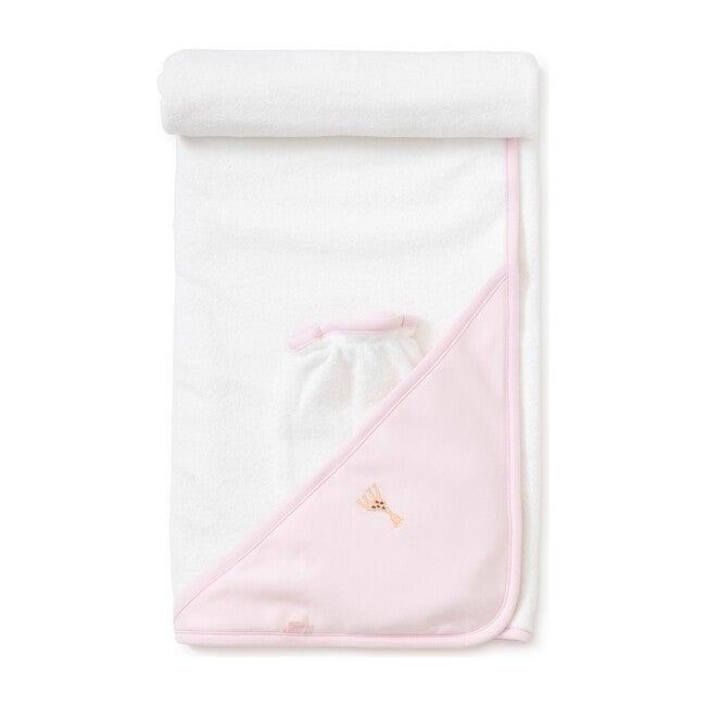 Sophie La Girafe Towel & Mitt Set, Pink