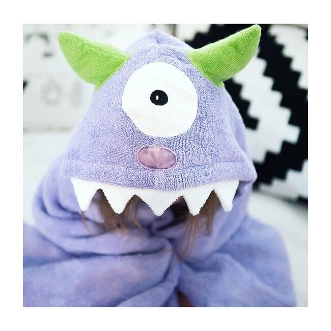 Monster Purple Hooded Towel, Purple