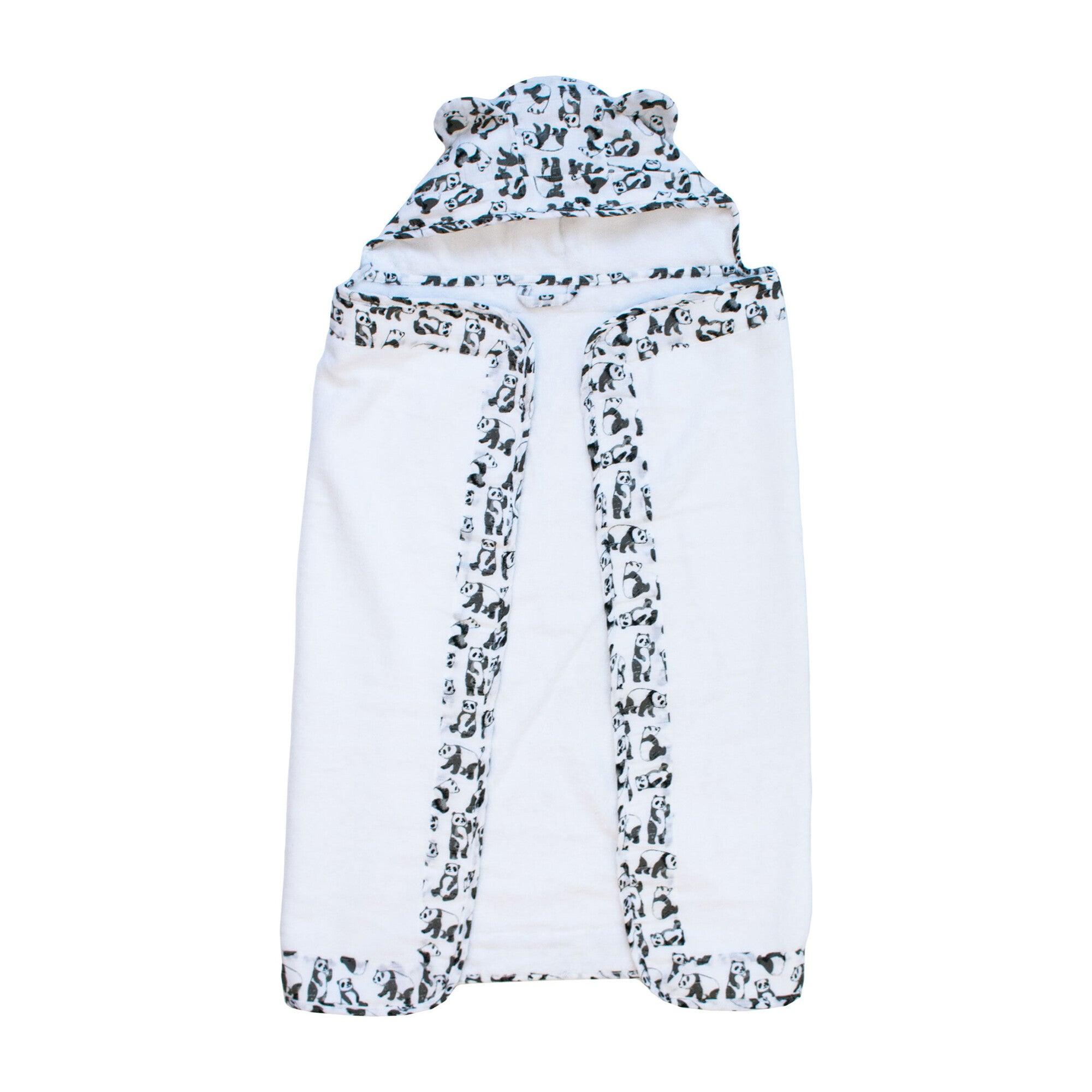 Baby Hooded Towel, Pandas