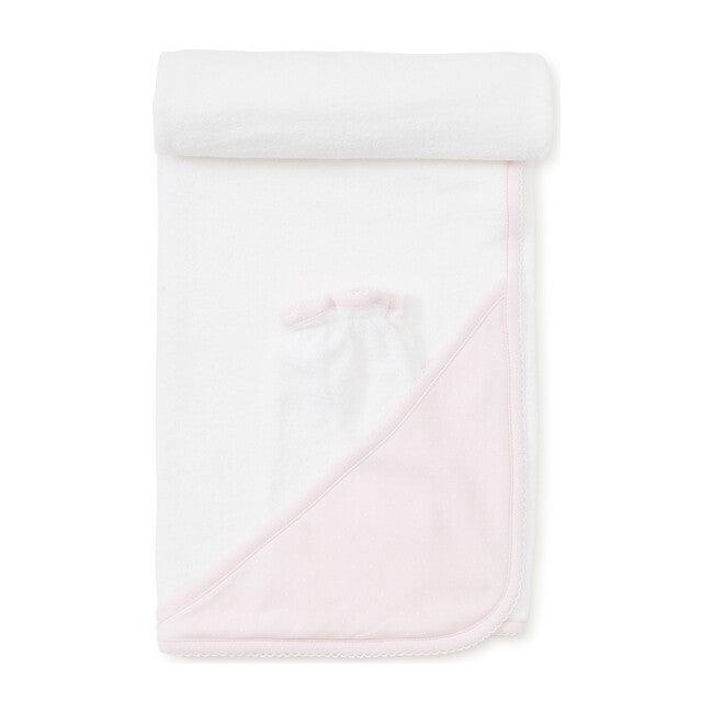 New Dots Towel & Mitt Set, Pink/White