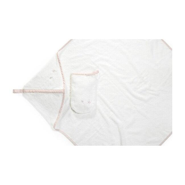 Stokke Hooded Towel, Pink Bee