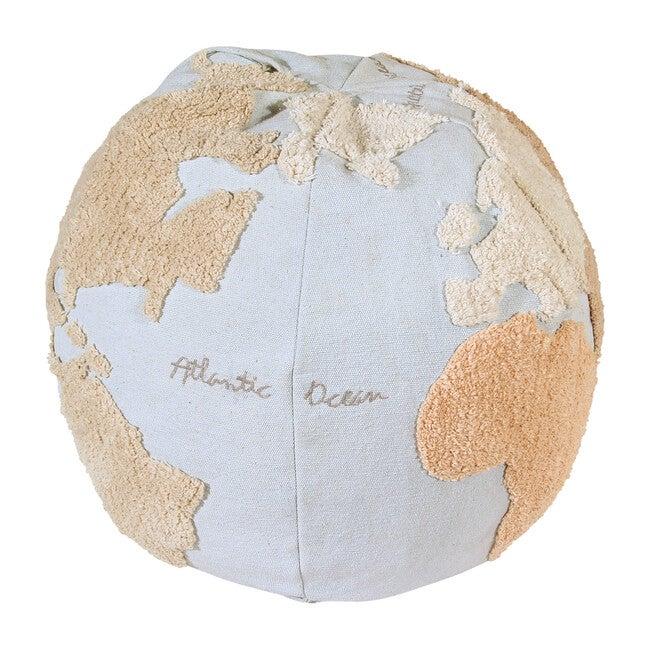 World Map Pouffe
