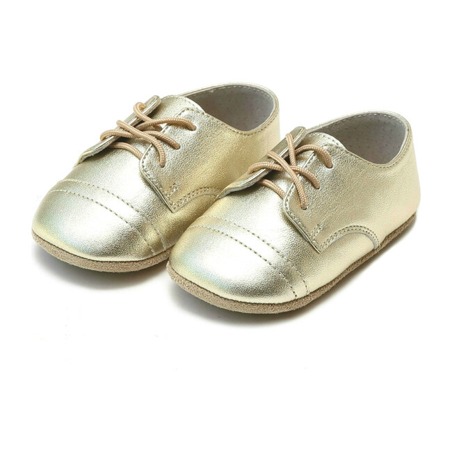Bailey Derby Crib Shoe, Gold