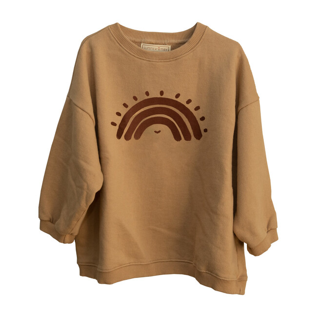 Oversized Rainbow Sweater, Latte
