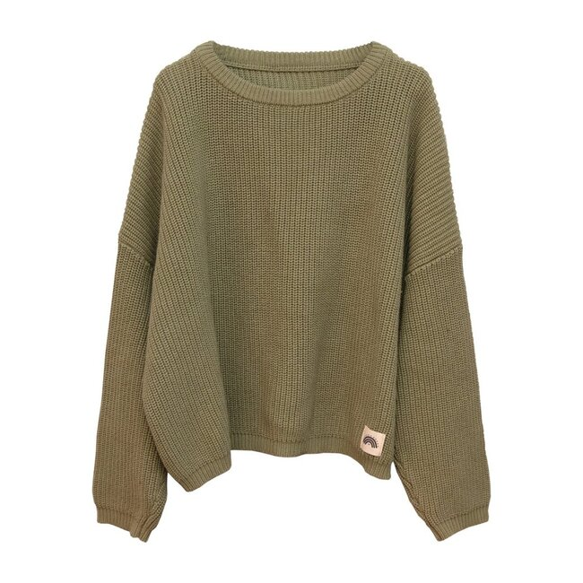 Oversized Cotton Knit, Sage