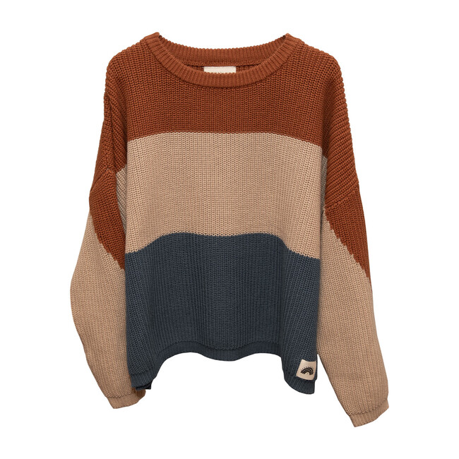 Oversized Cotton Knit, Tricolor