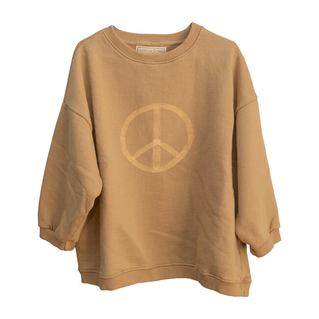 Oversized Peace Sweater, Latte