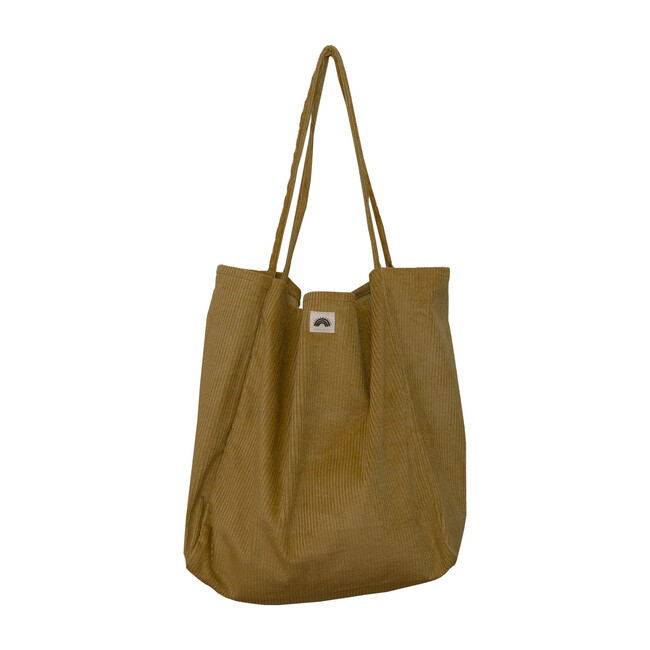 Oversized Corduroy Bag, Golden Kiwi