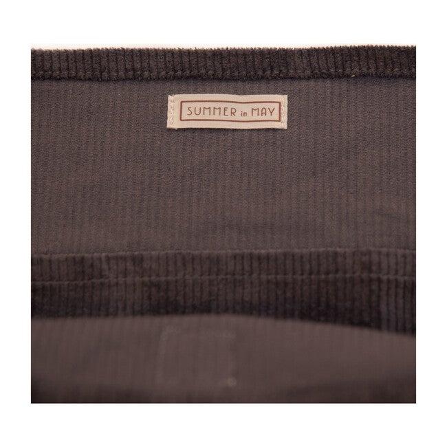 Oversized Corduroy Bag, Slate