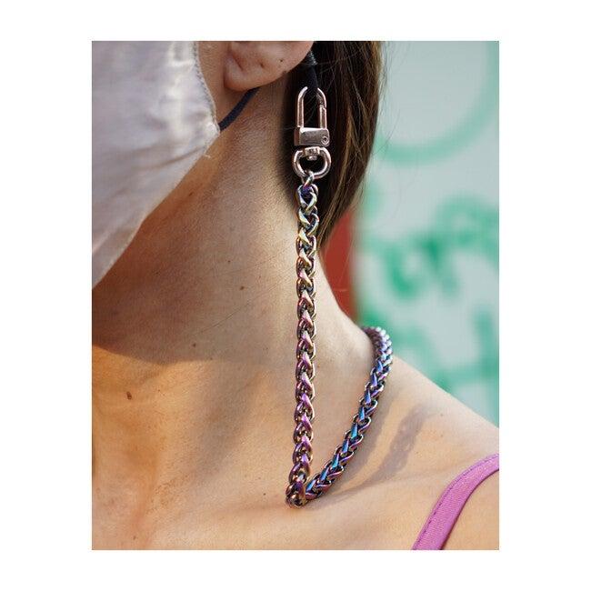 Nikki Mini Face Mask Chain Strap, Mermaid
