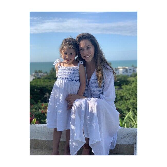 *Exclusive* Womens Isla Isabela Dress, White Plumeti