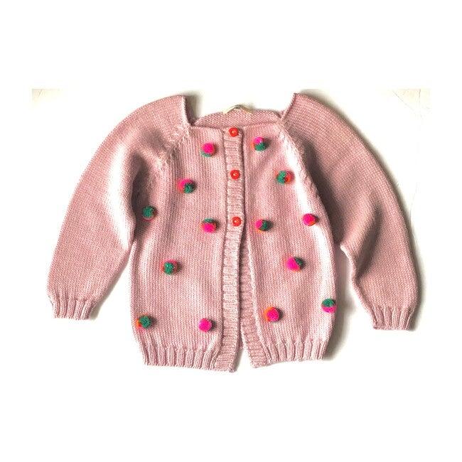 Pom Cardigan Pink