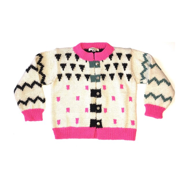 Museum Geo Cardigan, Pink