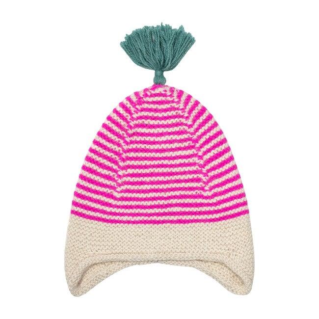 Tassled Hat, Pink/Teal