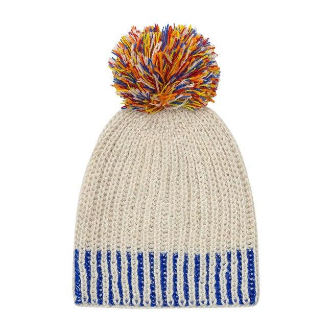 Sprinkled Pom Hat, Cobalt - Hats - 1