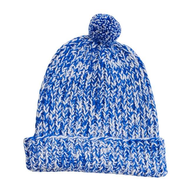 Speckled Pom Hat, Cobalt