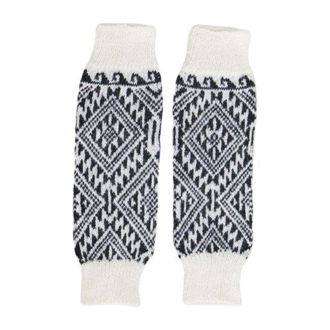 Leg/Arm Warmers, Black/White Aztec