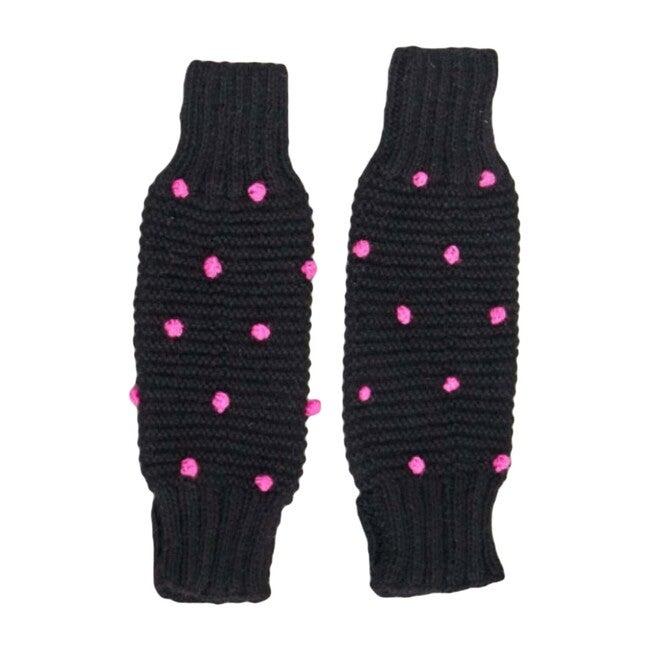 Leg/Arm Warmers, Black/Pink Dot - Leggings - 1